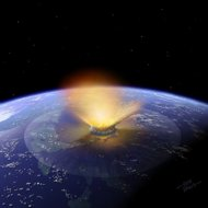 Artist rendering of this asteroid impact